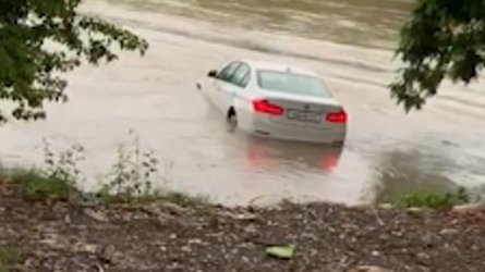 bmw in the river